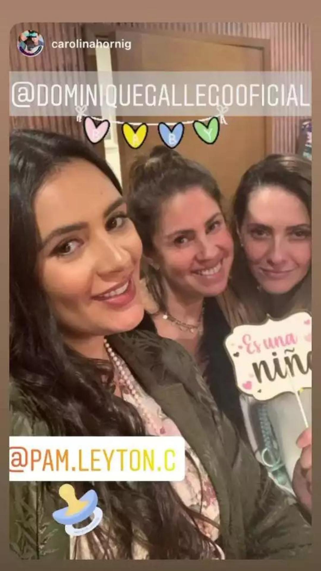 Dominique Gallego Celebro Baby Shower Con Intimo Encuentro Con Amigas