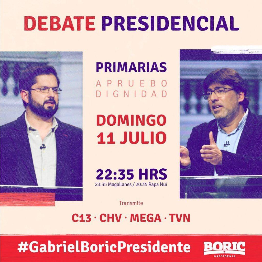 Gabriel Boric Y Daniel Jadue Debate Presidencial