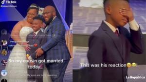 Boda viral: Hombre adopta al hijo de su esposa en pleno matrimonio