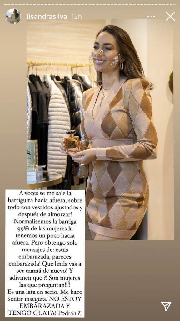 """Me hacen sentir insegura"": Lisandra Silva sobre rumores de posible embarazo"