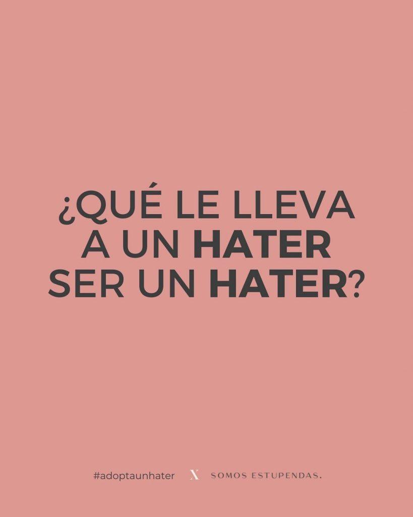 Ser Hater Campaña Contra El Odio En Redes Sociales