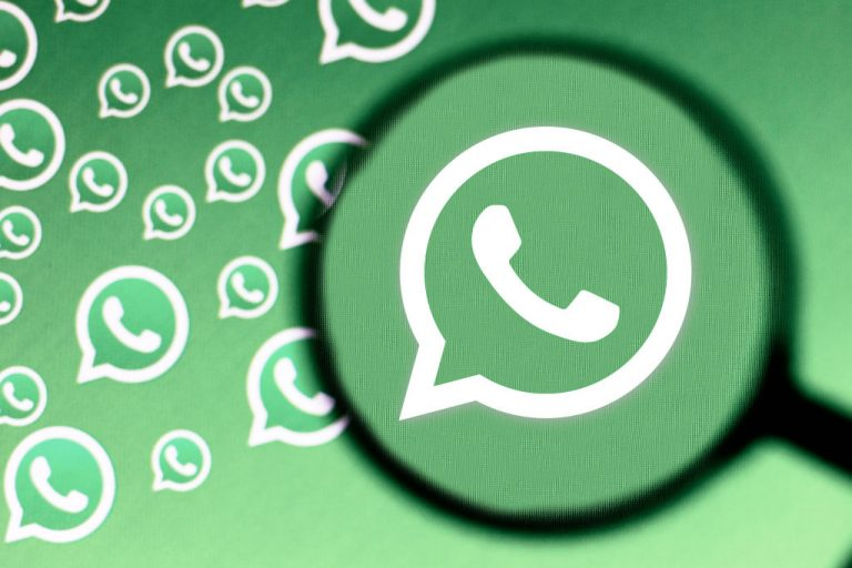 In This Photo Illustration A WhatsApp Logo Is Seen On A