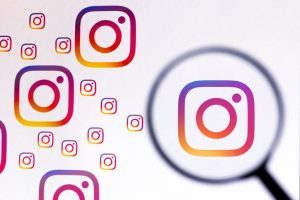 In This Photo Illustration, An Instagram Logo Seen Displayed