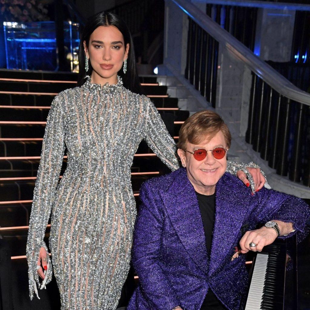 Dua Lipa Junto A Elton John