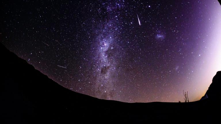 Lluvia De Estrellas En El Desierto De Atacama