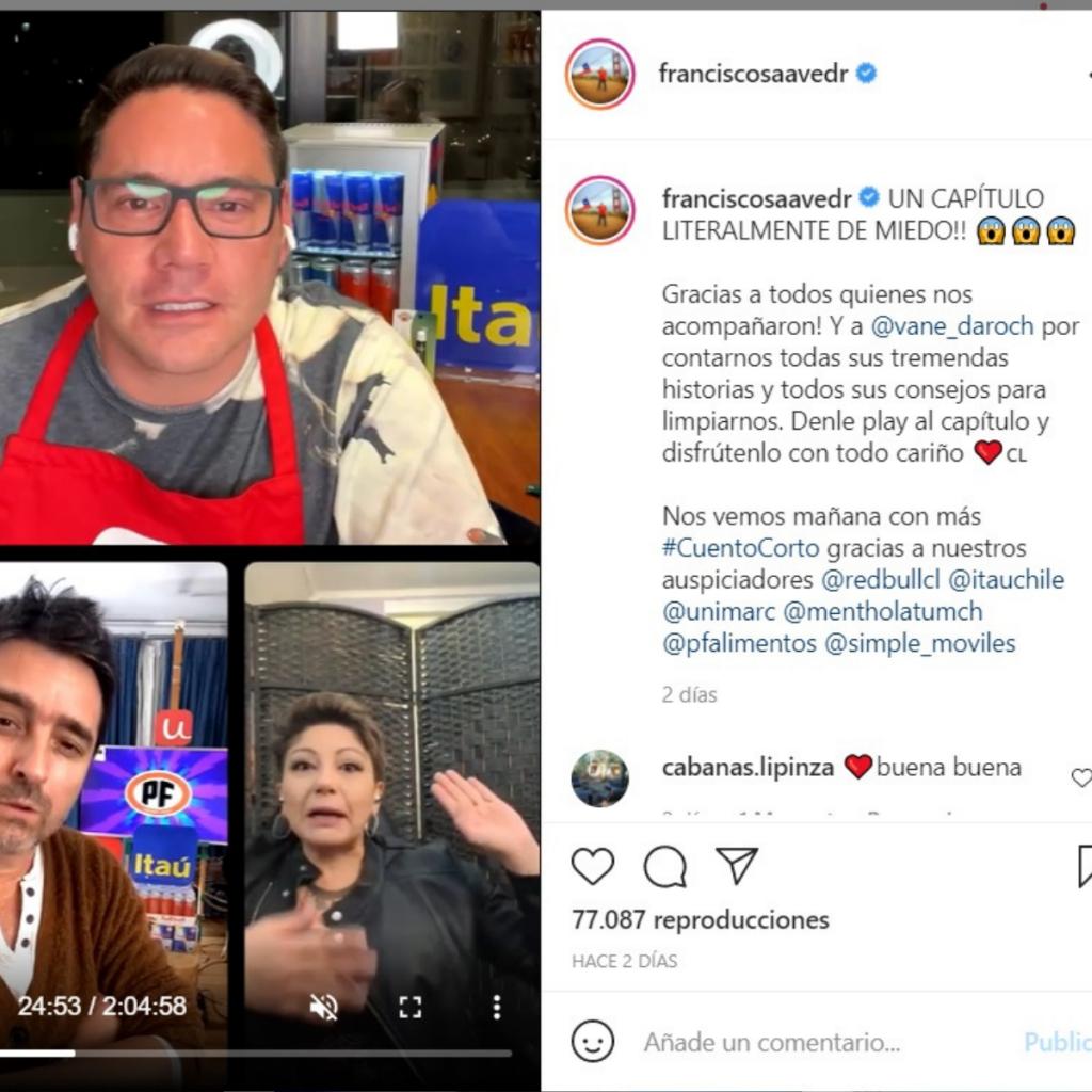Pancho Saavedra Y Jorge Zabaleta Con Tarotista