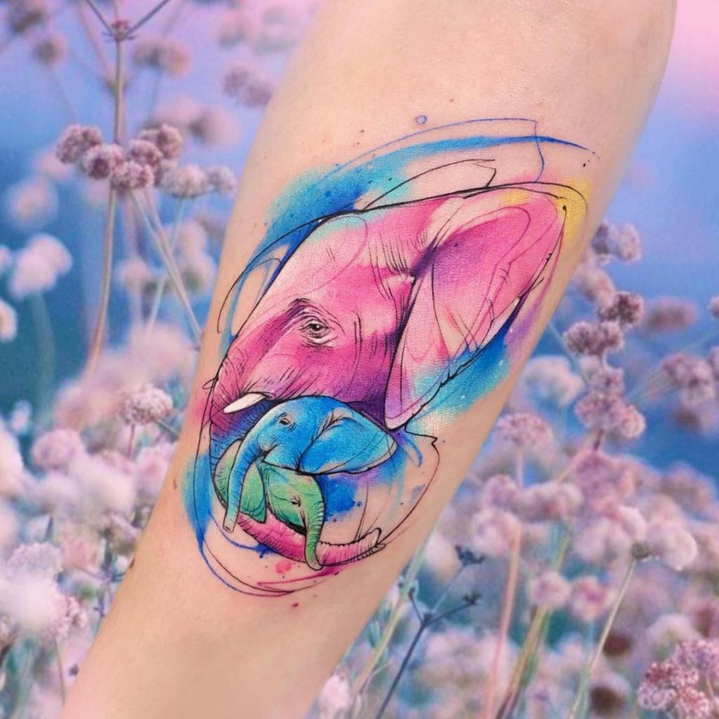 Tatuajes Mejores Ideas Acuarela