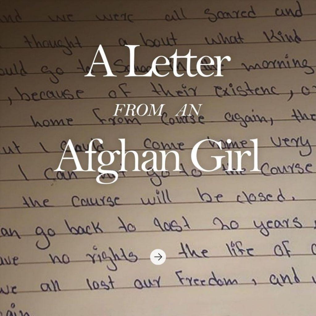 Una Carta De Una Chica Afgana