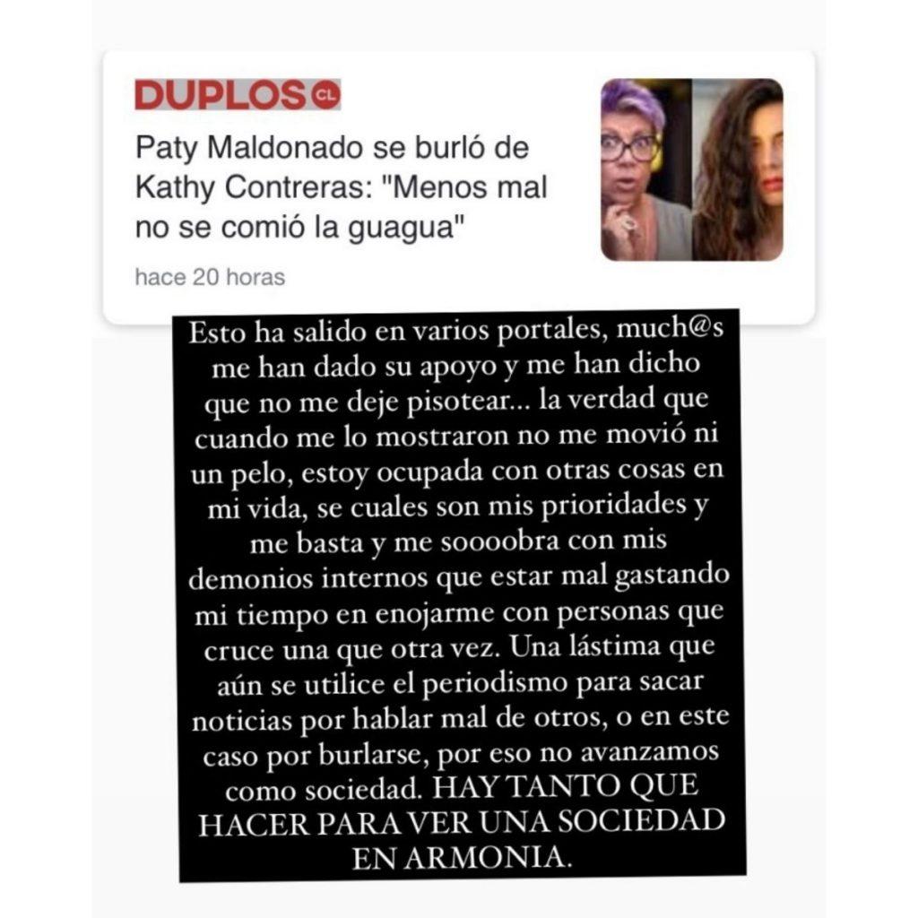 Kathy Le Responde A Paty Maldonado