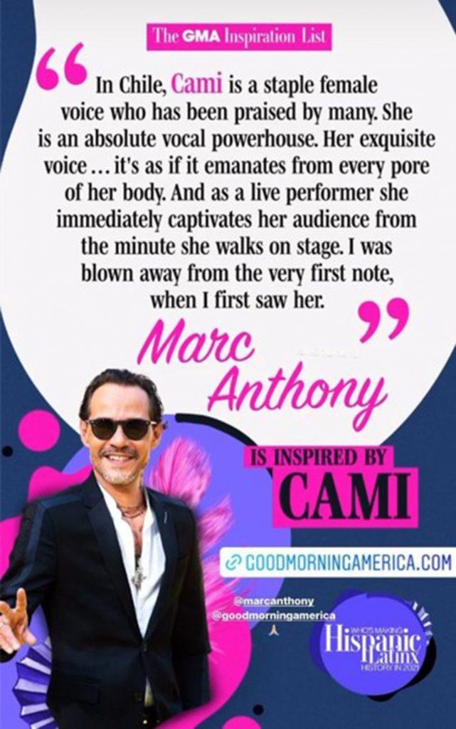 Marc Anthony sobre Cami