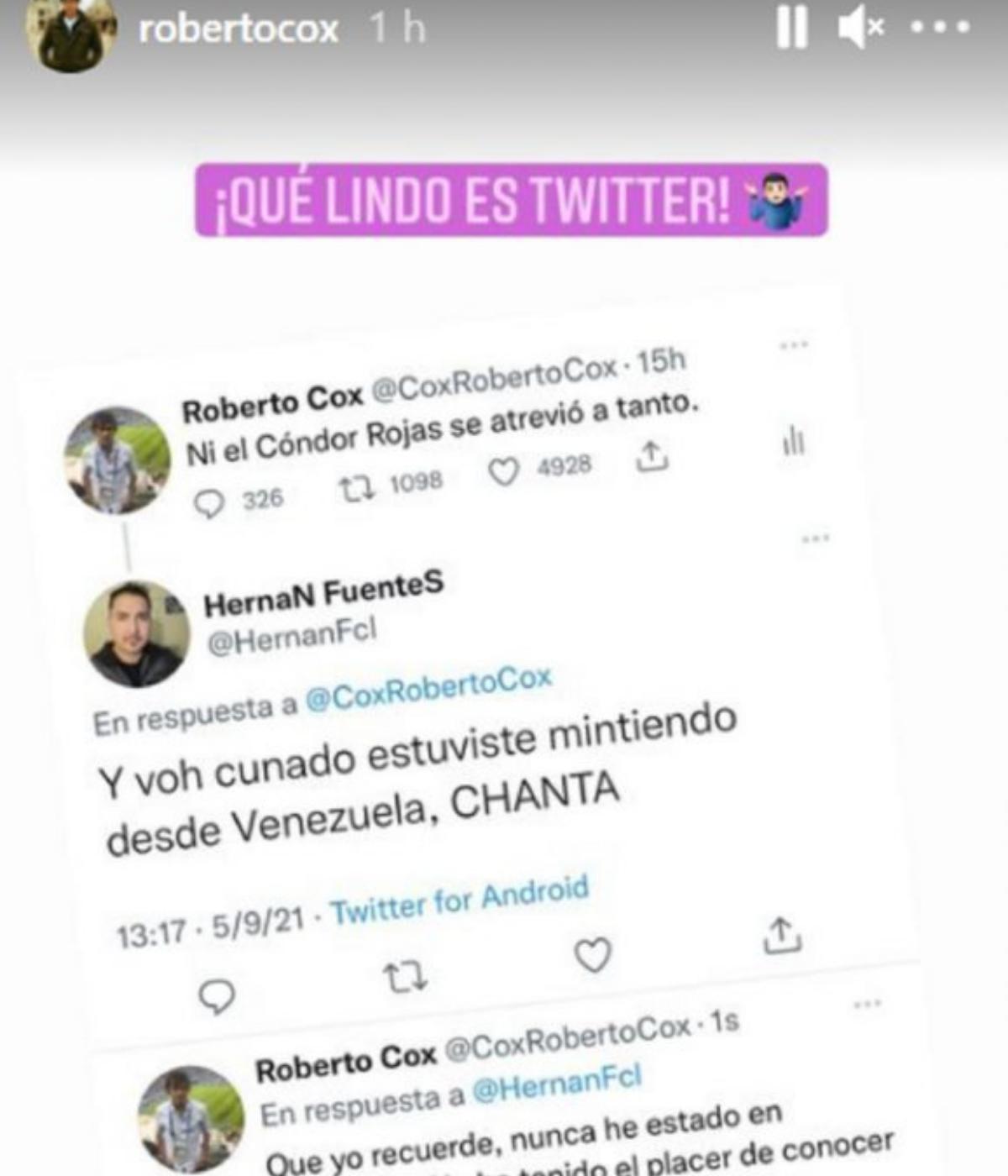 Roberto Cox Instagram