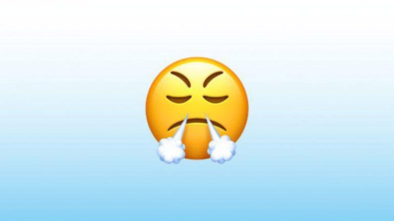 Emoji De WhatsApp Resoplando